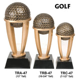 GOLF TOWER RESIN TROPHY AWARDS