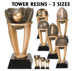 Tower Series Sport Resin Awards | 6 STYLES | 3 SIZES