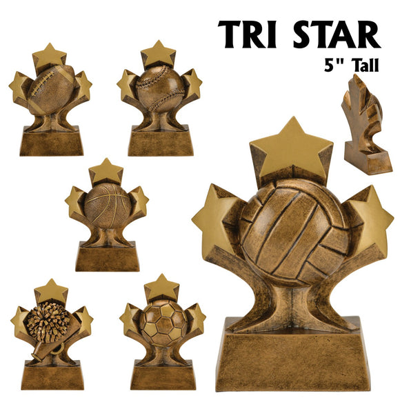 Tri Star Series Sport Activity Resin Awards | 6 STYLES