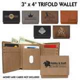 Customizable Leatherette Trifold Tri-Fold 7 Slot Wallet | 7 COLORS