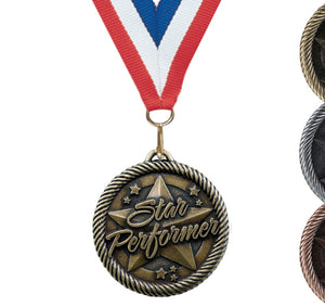 "2"" VM Series Award Medals on 7/8"" Neck Ribbons 