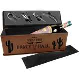 Leatherette Single Wine Box with 4 Piece Tools | 9 Colors Available