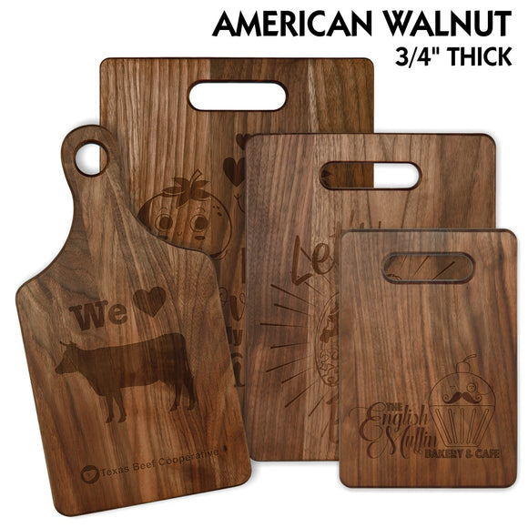 Customizable American Walnut Cutting Board | 4 SIZES