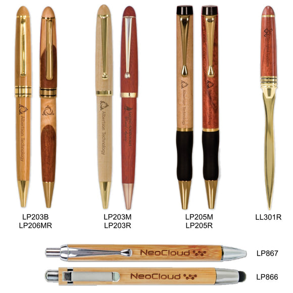 Customizable Wooden Pens and Letter Opener | 11 OPTIONS