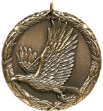 "2"" XR Series eagle Award Medals on 7/8"" Neck Ribbons"