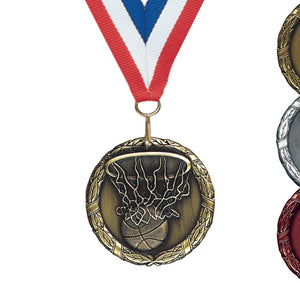 "2"" XR Series Award Medals on 7/8"" Neck Ribbons 