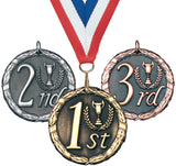 "2"" XR Series Place Medals on 7/8"" Neck Ribbons 