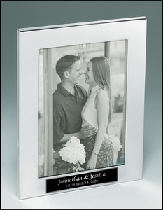 Airflyte Polished silver aluminum picture frame with black velour easel back | 3 SIZES