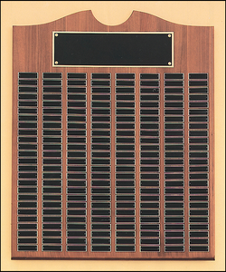 Airflyte Solid American Walnut 12 to 270 Black Brass Plate Perpetual Plaques | 15 SIZES