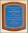 Airflyte Solid American walnut plaque with Blue Linen Textured plate | 3 SIZES