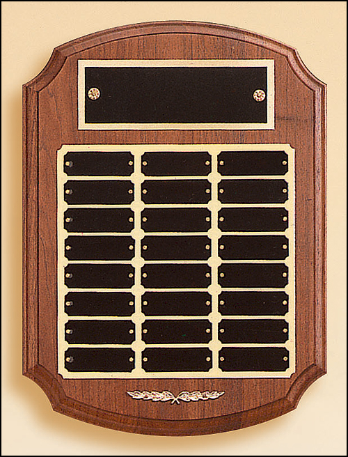 Airflyte Solid Walnut 12 to 24 Plate step edge rounded cove Perpetual Plaques | 2 SIZES