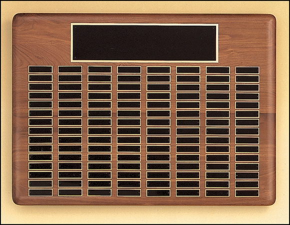 Airflyte Solid American Walnut 12 to 144 Black Brass Plate Perpetual Pinnacle Plaques | 11 SIZES