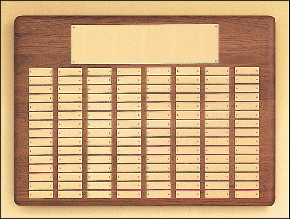 Airflyte Solid American Walnut 12 to 144 Gold Brass Plate Perpetual Pinnacle Plaques | 11 SIZES