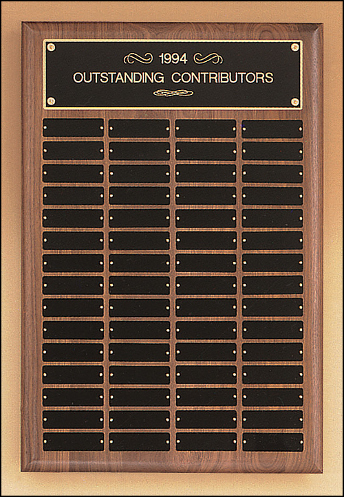 Airflyte Solid American Walnut 24 to 120 Plate Perpetual plaques with percision pinnacle edges | 9 SIZES