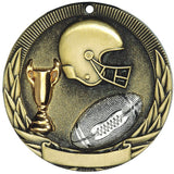 "2"" Tri-Colored Series Award Medals with Gold and Silver Accents on 7/8"" Neck Ribbons 