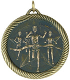 "2"" VM Series Cross Country Running Award Medals on 7/8"" Neck Ribbons"