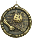 "2"" VM Series Volleyball Award Medals on 7/8"" Neck Ribbons"