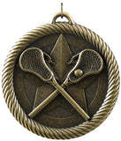 "2"" VM Series Lacrosse Award Medals on 7/8"" Neck Ribbons"