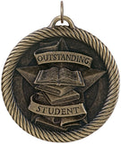 "2"" VM Series Outstanding Student Award Medals on 7/8"" Neck Ribbons"