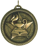"2"" VM Series Lamp of Knowledge Award Medals on 7/8"" Neck Ribbons"