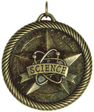 "2"" VM Series Science Award Medals on 7/8"" Neck Ribbons"