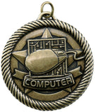 "2"" VM Series Computer Award Medals on 7/8"" Neck Ribbons"
