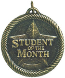 "2"" VM Series Student of Month Award Medals on 7/8"" Neck Ribbons"