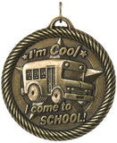 "2"" VM Series Attendance I come to School Award Medals on 7/8"" Neck Ribbons"