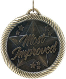 "2"" VM Series Most Improved Award Medals on 7/8"" Neck Ribbons"