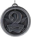 "2"" VM Series 2nd Place Medals on 7/8"" Neck Ribbons"