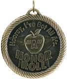"2"" VM Series Hooray All A's Honor Roll Award Medals on 7/8"" Neck Ribbons"