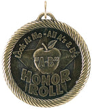 "2"" VM Series Look at me A-B honor Roll Award Medals on 7/8"" Neck Ribbons"