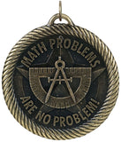 "2"" VM Series Math Problems are No problem Award Medals on 7/8"" Neck Ribbons"