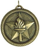 "2"" VM Series Victory Torch Award Medals on 7/8"" Neck Ribbons"