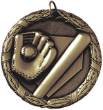 "2"" XR Series softball Award Medals on 7/8"" Neck Ribbons"