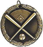 "2"" XR Series baseball Award Medals on 7/8"" Neck Ribbons"