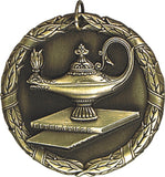 "2"" XR Series lamp of knowledge Award Medals on 7/8"" Neck Ribbons"