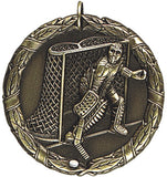 "2"" XR Series ice hockey goalie Award Medals on 7/8"" Neck Ribbons"