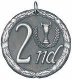 "2"" XR Series 2nd Place Award Medals on 7/8"" Neck Ribbons"