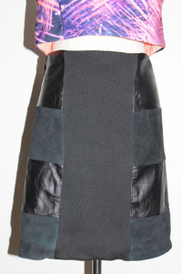 Leather Panel Skirt CAMEO - Size 12