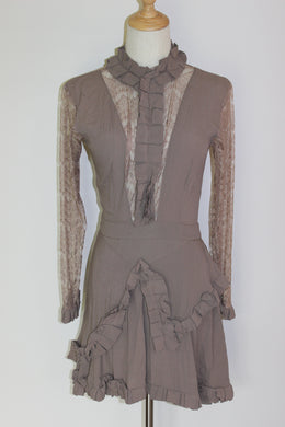 State of Georgia Medusa Lace Panel Dress Size 8
