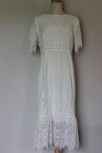 Lorraine White Lace Dress (Little Party Dress: Tonight) Size 12