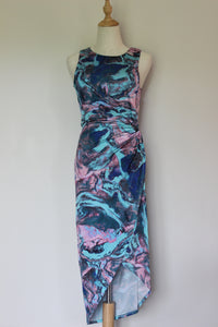 Sheike Marbled Print Dress - Size 10