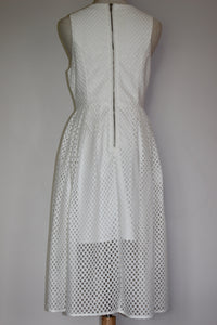 White Closet (Little Party Dress - Gridlock) Dress - White - Size 8 (also suit 10)