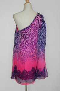 Pink & Purple Roses Dress Size 8 & 14 *CLEARANCE*