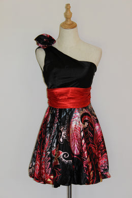 Black and Red Floral Midi Size 8, 10 & 16*CLEARANCE*