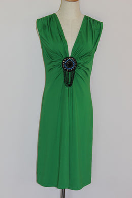 Green Broach Dress  Size 10 *CLEARANCE*