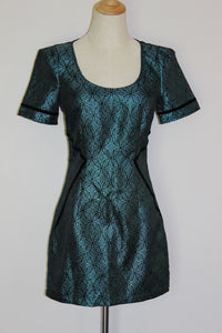 Ladakh Teal & Black Dress Size 8