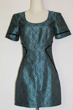 Load image into Gallery viewer, Ladakh Teal & Black Dress Size 8