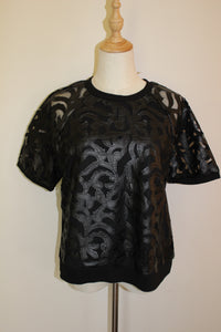 Miss Me Black Top Size 14